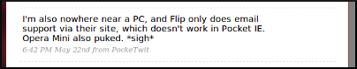 Flip Not Listening to Twitter #2